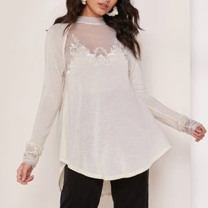 NEW Free People Floral Embroidered Top Saheli